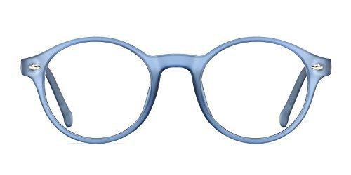 TIJN Uomo Donna Vintage Occhiali Rotondi Montatura per Occhiali da Vista Lenti Chiare Verde rRgOPn