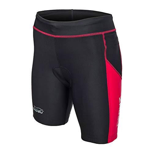 ZAOSU Damen Trishort Z-Revolution | Triathlon Hose Zweiteiler, Größe:S, Farbe:schwarz/rot
