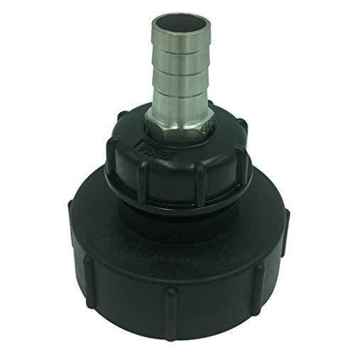 Homyl Connecteur DN80 Raccords Adaptateur Tuyau De Jardin Réservoir d'eau IBC 1000L - Noir 25mm