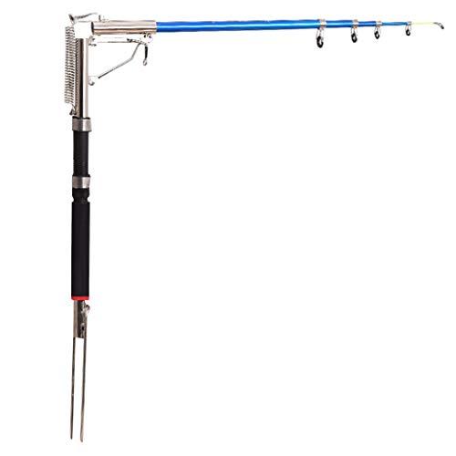 BAMD=NB Angelrute,automatischeSchrumpfrolle,Combos Kohlefaser Teleskop Angelrute mit Reel Combo Meeressalzwasser Süßwasser Kit (Multicolor-C 2.1m[82.6\'\'inch])