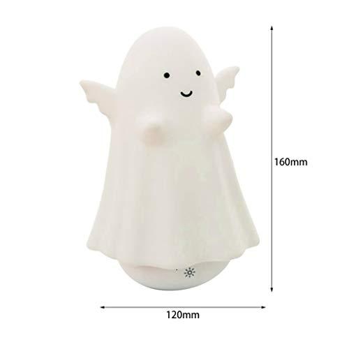 (Schlummerleuchten,Bunte Clever Ghost Nachtlicht Led Silikon Usb Ladelampe Touch Control Nachttischlampe Halloween Festival Geschenk)