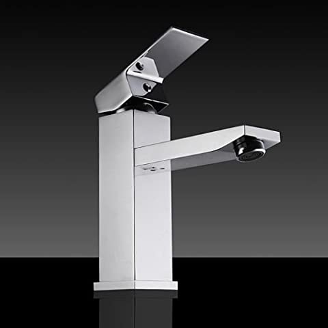 Generic dyhp-a10-code-5848-class-1-- cascada mezclador grifo latón cromado terfa moderno baño uare BR lavabo fregadero lavabo grifo cuadrado