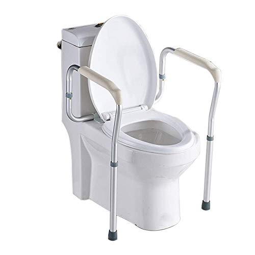 MZ Soft Hohe Qualität Ältere Schwangere Frauen-WC-Handläufe, Badezimmer-Sicherheit Rutschfester barrierefreier Energie-Rahmen, Toilette Badezimmer-Toilette Einfach zu säubern (Color : White)