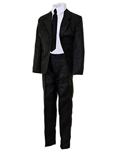 Festlicher 4tlg. Jungen Anzug für Hochzeiten und viele weitere Festliche Anlässe M503sw Schwarz 15/164 -