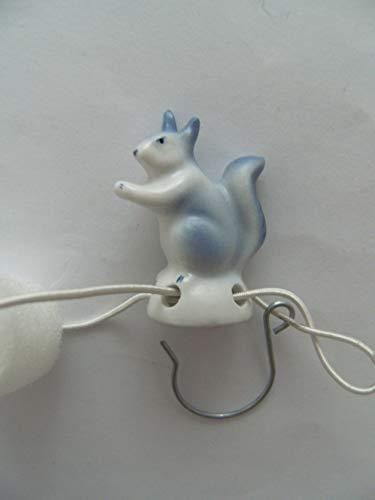 Lindner Porzellan Tropfenfänger Eichhörnchen, handbemalt, für Kaffee- oder Teekannen, Tier