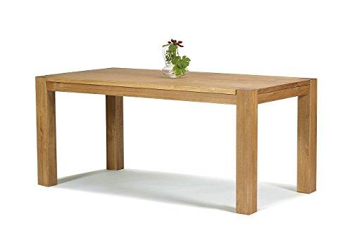 2 Stück Moderner Stuhl (Esstisch ,,Rio Bonito,, 160x80 cm, Pinie Massivholz, geölt und gewachst, Holz Tisch für Esszimmer, Wohnzimmer Küche, Farbton Honig hell, Optional: passende Bänke und Ansteckplatten)