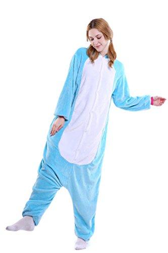 Imagen de heekpek® pijama animal unicornio entero unisex para adultos con capucha ropa de dormir traje de disfraz para festival de carnaval halloween navidad s 147 157cm , azul  alternativa