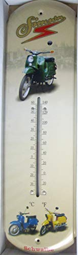 vielesguenstig-2013 Thermometer Blech Simson Schwalbe Moped DDR Ostalgie
