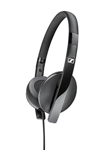 Sennheiser 506718 HD2.20s On-Ear-Kopfhörer mit geschlossener Bauweise und Inline-Fernbedienung schwarz