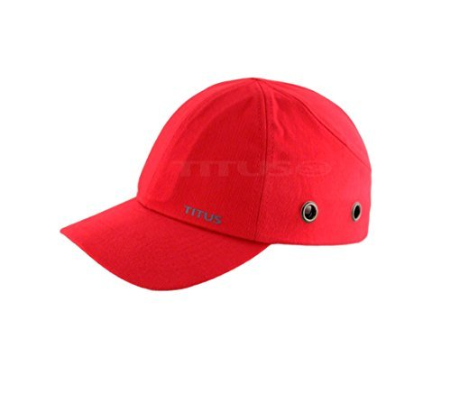 Titus Lightweight Safety Bump Cap - Baseball Style Protective Hat (Red) by TITUS CSE