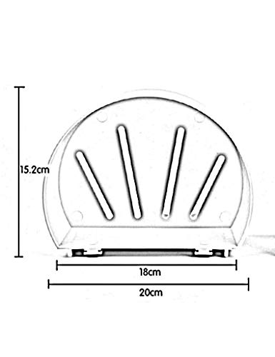 ERCZYO Wandregal for die Aufbewahrung Badezimmerregale Saugnäpfe Wandregal for die Aufbewahrung von runden Scheiben Speichern (Farbe : 2)