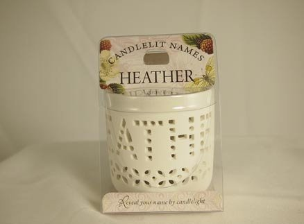 History & Heraldry Candlelit Names - Heather - Tea Light Lite Candle 001850092-HH by History & Heraldry