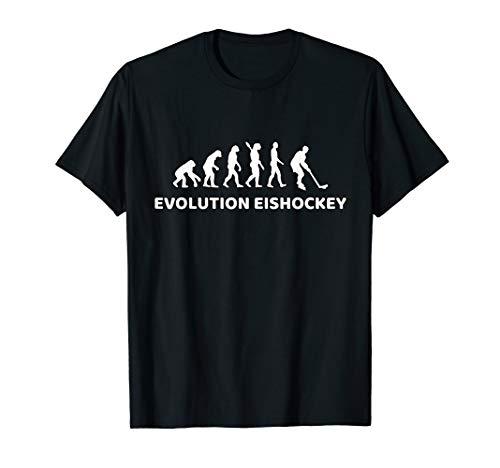 Evolution Eishockey T-Shirt Geschenk für Eishockeyspieler