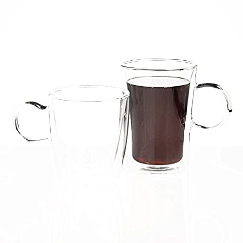Tasses à double paroi en verre 10g d'Oz