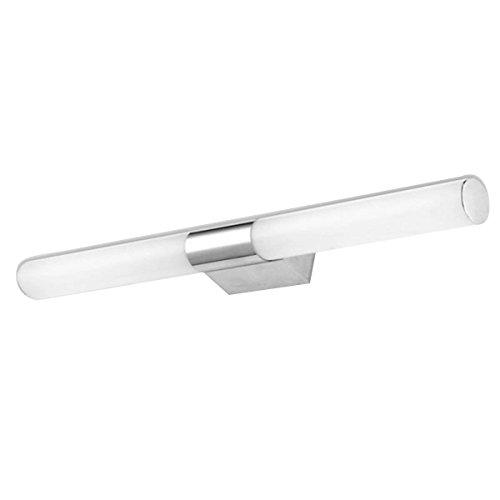TOOGOO(R) 10W LED AC110-220V Warmweiss Spiegelleuchte Edelstahl Frontleuchte Spiegellampe Badezimmer Wandleuchte Schrankleuchte