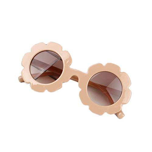 Eghunooye Kinder Baby Blume Rundes Anti-UV Sonnenbrille,Party Fotografie Strand Brillen Sonnenschutz Sunglasses Geschenk für Jungen und Mädchen (Rosa)