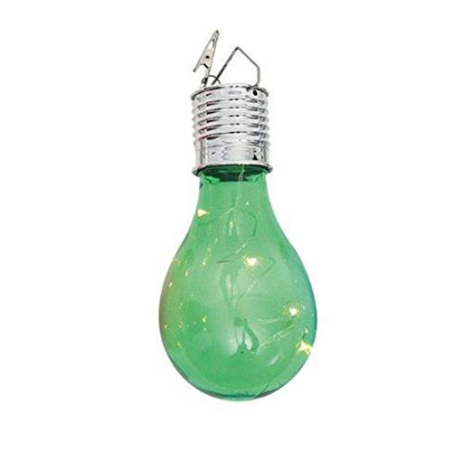 Shell Garten (LEDMOMO Solar-Glühbirne drehbare wasserdichte hängende LED-Licht-Lampe Birne für Outdoor-Garten Camping (Green Shell))