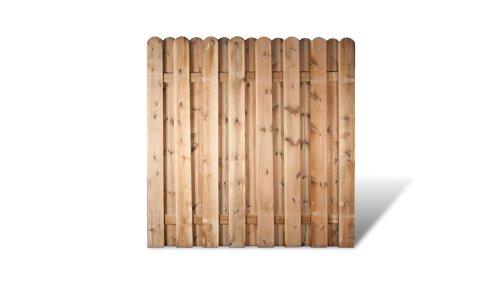 """Robuste Sichtschutz Zaunelemente in den Maßen 180 x 180 cm mit starken Lamellen aus Kiefer/Fichte Holz, druckimprägniert\""""Frankfurt\"""""""