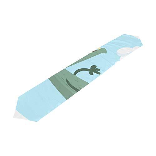 Yushg Karikatur-Nette Wolf-Damen-Seesack-Sport-Laptop-Beutel-Handtaschen für Kindertischläufer-Dekor Innen-13x90 Zoll -