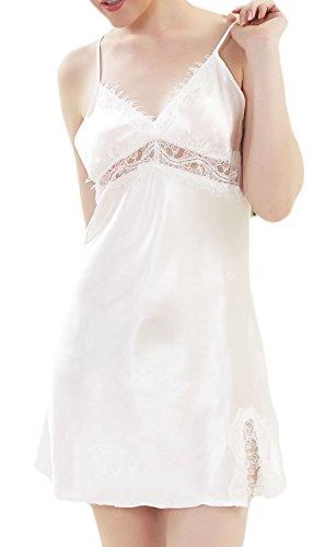 M-Mala - Camicia da notte -  donna Mantel Weiß