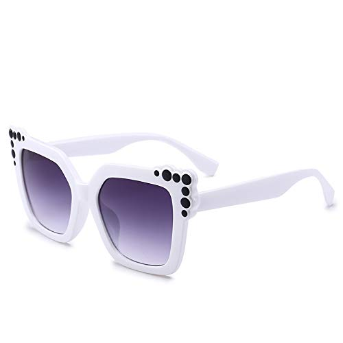 Yangjing-hl Sonnenbrillen Fashion Box Sonnenbrillen Damen Pink Sonnenbrillen C White Box Double Grey