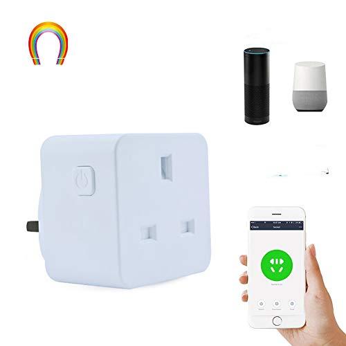 YLONE WiFi Smart Plug Outlet Kompatibel mit Alexa, Google-Startseite und IFTTT, Wireless Mini Smart Steckdose mit Energieüberwachung, Fernbedienung von überall