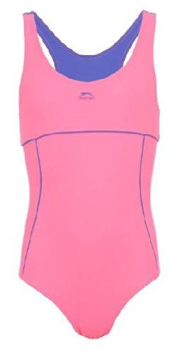 9-10 Jahre Slazenger Mädchen Badeanzug in der Farbe : pink/blau