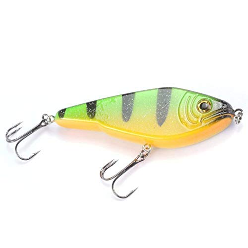 DACCU Fishing Lure Jerkbait Musky Buster Jerk Big Baits Mustad Hooks Slow Sinking Big Bass 120mm 50g Pesca Leurre,Color 1 -