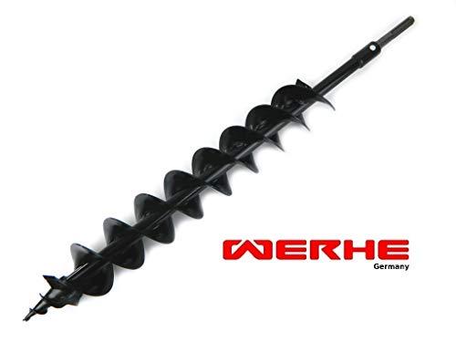 WERHE Profi Bohrer für Erdbohrer 120 mm Doppel-Welle Pfahlbohrer Brunnenbohrer robuste Bohrspitze mit SDS Max Adapter