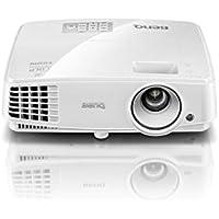 BenQ 9H.JFA77.14E Projektor DLP, SVGA 800x600, 3300 ANSI Lumen, 1,9 kg, 33 dB/28 dB im Eco-Mode, Kontrast: 13000 :1 weiß