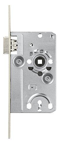 ABUS Tür-Einsteckschloss mit Buntbartschlüssel TK20 Stumpf S L silber für DIN-links Türen 572005