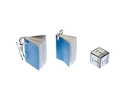 Buch Ohrringe / Ohrhänger blau - 4