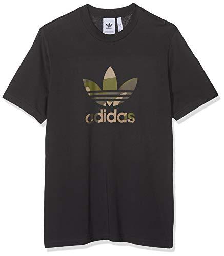 adidas Herren Camouflage Trefoil T-Shirt, Utility Black, L (Camo Adidas)
