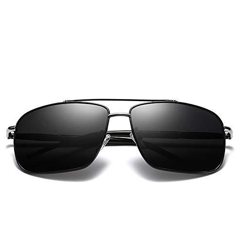 LLYY-Sunglasses-SKB DRLLYY Polarized Lens Sport Sonnenbrillen für Herren Super Light Weight UV Cut UV Reflective Light draussen (Color : Schwarz, Size : Kostenlos) -