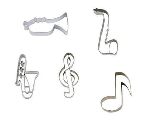 Ausstecher Ausstechformen im Set mit 5 Musikmotiven - Schönes Geschenk für Musiker