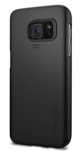 Custodia Galaxy S7, Spigen [Rivestimento Soft-Feel] Thin Fit [Black] **Ultra-Sottile & Robusto** [Forma-Perfetta] Custodia Samsung Galaxy S7, Custodia Samsung S7, Cover Galaxy S7, Cover Samsung S7