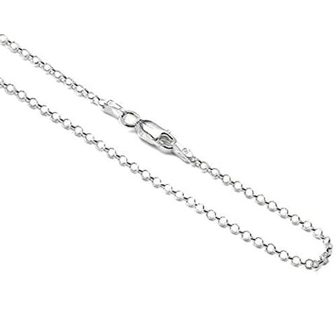 Sterling Silver Italian 1 mm Rolo Chain Sizes18, 23, 36, 41, 46, 51, 56, 61, 76 cm