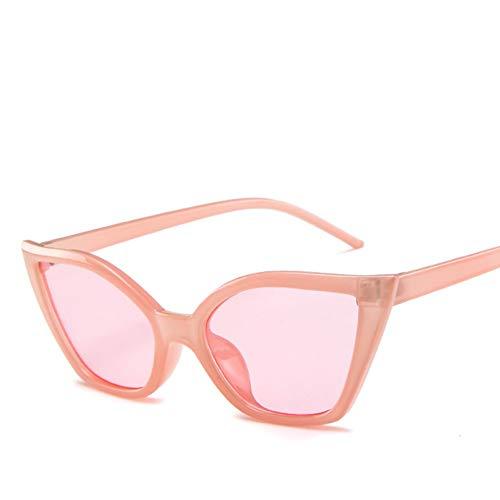 GJYANJING Sonnenbrille Mode Cat Eye Sonnenbrille Frauen Luxusmarke Designer Vintage Sonnenbrille Kleine Rot Schwarz Damen Sonnenbrille Eyewear