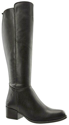 JJ Footwear Damen Stiefel Leder/str.text aberdare XS Schwarz Nappa