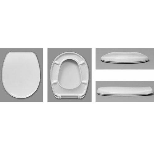 WC-Sitz DIANA Compakt weiß, Edelstahlscharnier 430mm | für WC mit geringer Ausladung