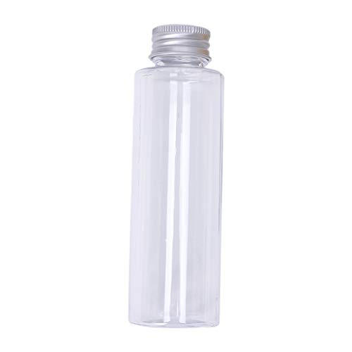 niumanery Plastic Travel Empty Jars Bottle Makeup Liquid Sample Container Aluminum Cap 100ml Silver -