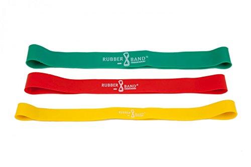 Dittmann Rubber Band 3er-Kombi (1 x gelb, 1 x rot, 1 x grün) inkl. Übungsanleitung