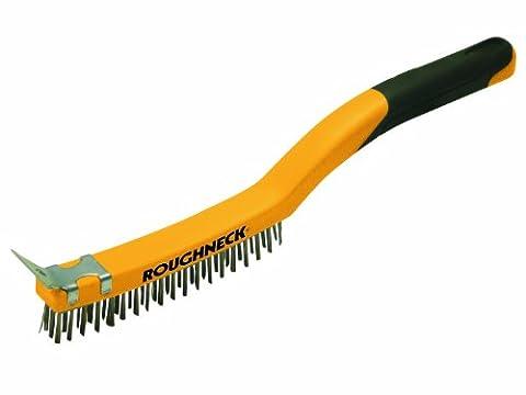 Roughneck 52034 350mm/14 inch Brass Wire Brush Soft Grip