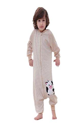 Ailient bambino morbidi sacco a pelo con cerniera gambe separati maniche stampa sacco di sonno smontabili comoda sacchi nanna cute