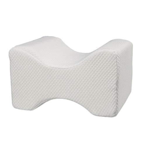 Memory-schaumstoff Knie Kissen (Kbsin212 Schaumstoff-Knie-Kissen, Kontur Kniekissen - Memory-Schaum Bein-Kissen für Schwangerschaft, Rückenschmerzen, Ischias, Seitenschläfer, Komfort & Unterstützung & Seitenschläfer White Dots)