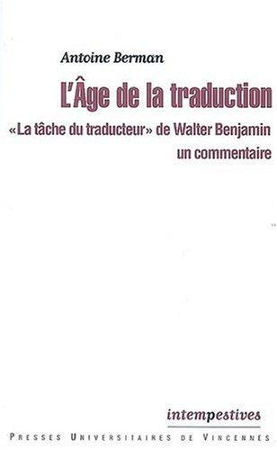 L'Age de la traduction :