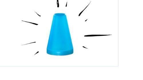 LED Campinglampe Blaulicht