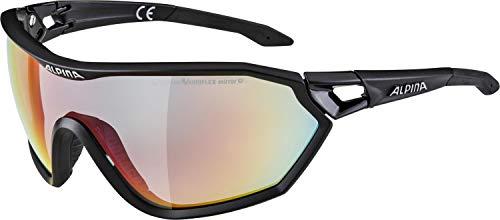 Alpina Unisex- Erwachsene S-Way L QVM+ Sportbrille, schwarz, One Size