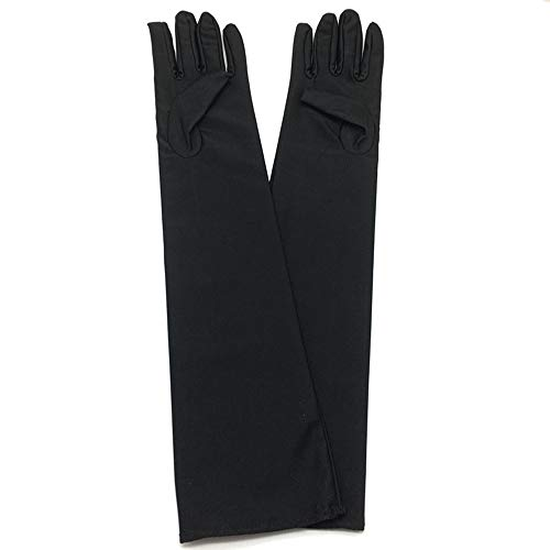 Ogquaton 1 par guantes elásticos largos satén guantes