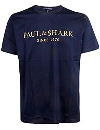 616379556f487 PAUL   SHARK Hombre E19P1117 Azul Algodon T-Shirt